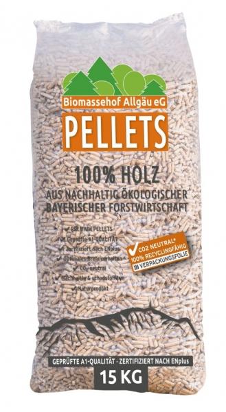 Biomassehof Allgäu Pellets 990 KG CO2 neutral verpackt!